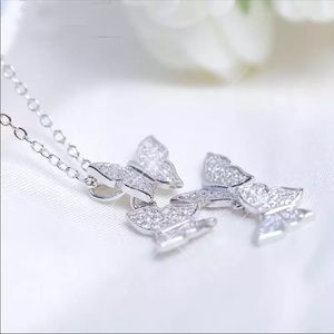 Brand new 925 silver butterfly necklace